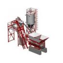 Мобильная бетоносмесительная установка СБ-241-1